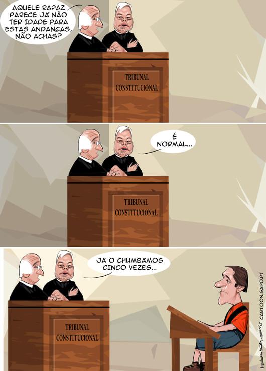 Cartoons - O chumbo do tribunal constitucional a Passos Coelho