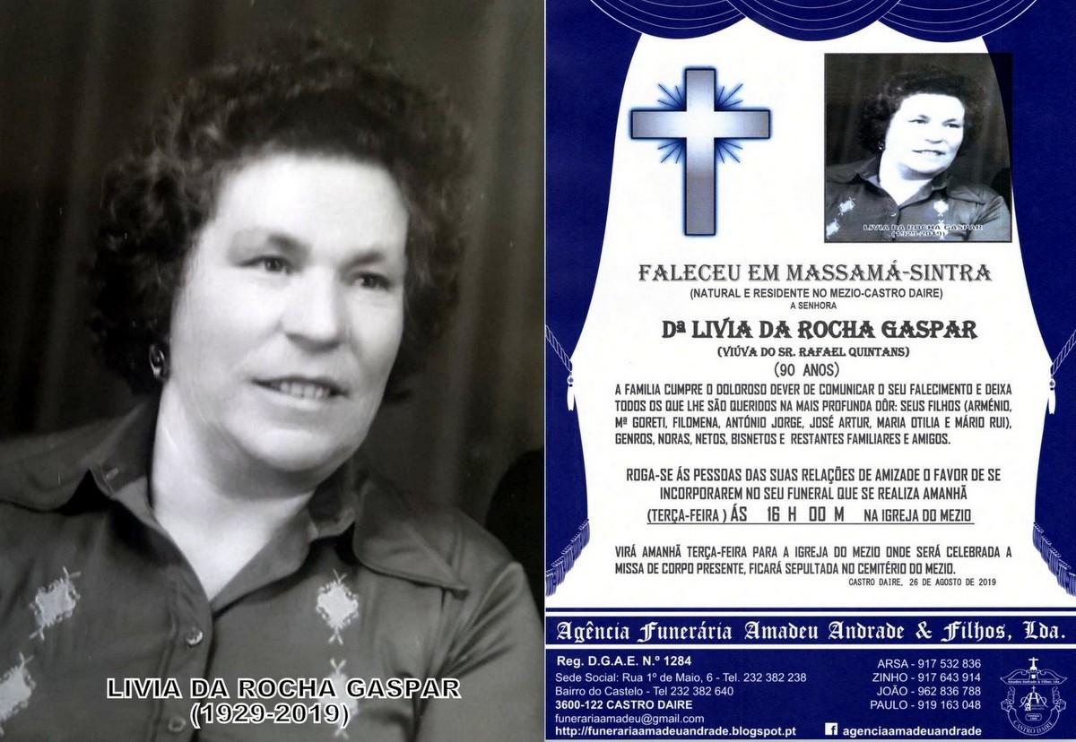 FOTO RIP DE LIVIA DA ROCHA GASPAR-90 ANOS (MEZIO).