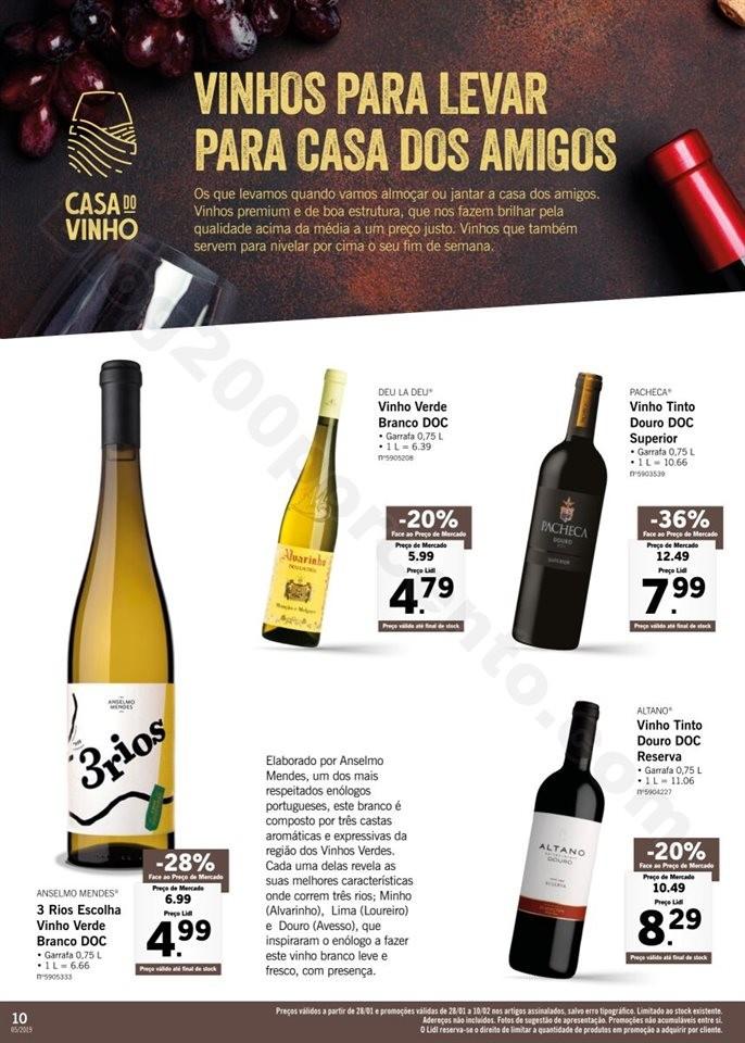 Antevisão Folheto LIDL Vinhos 28 janeiro a 10 fev