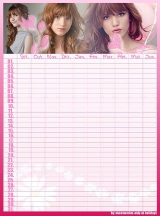 calendário de marcação de testes
