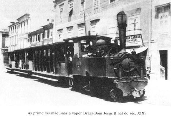 Braga com o comboio