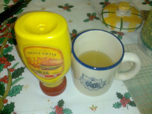 Chá de limão e mostarda