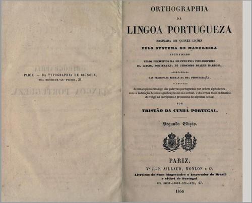 Orthographia da Lingua Portugueza