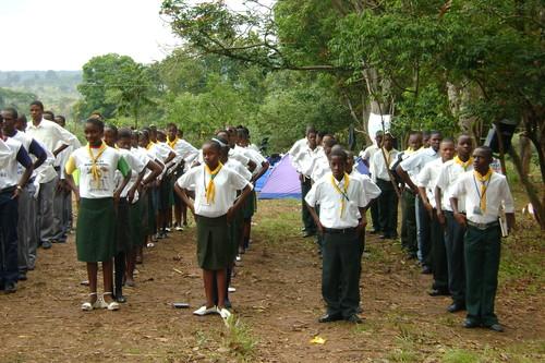 Acampamento na localidade do Dor-Lombe Jovens do ICM