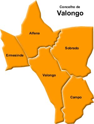valongo mapa CÂMARA DE VALONGO   A