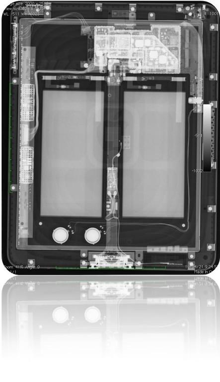raio-x de um ipad