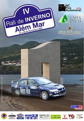 O cartaz do Rali de Inverno, que se inicia hoje nas Lajes do Pico...