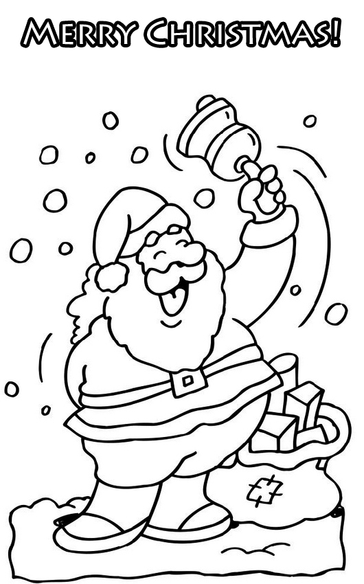 Cute Coloring Pictures Merry Christmas Coloring Santa Coloring Pages Of Merry