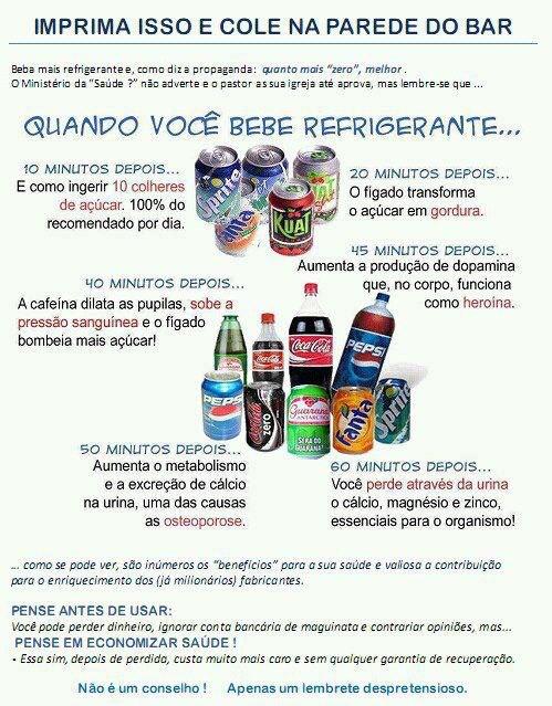 efeitos do refrigerante