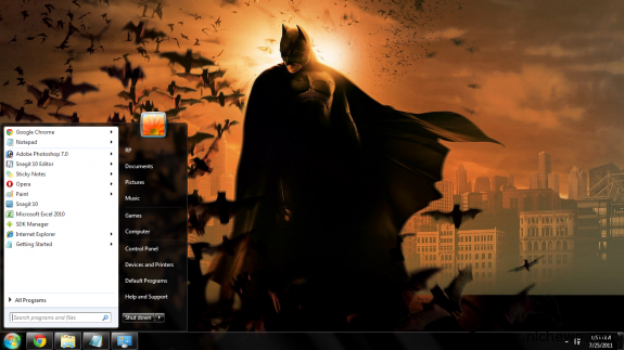 batman tema windows 7