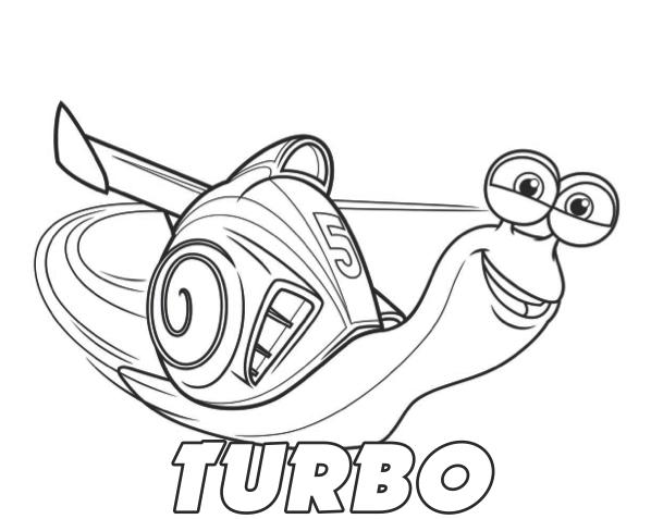 Desenhos Do Turbo Para Colorir E Imprimir Filme Turbo