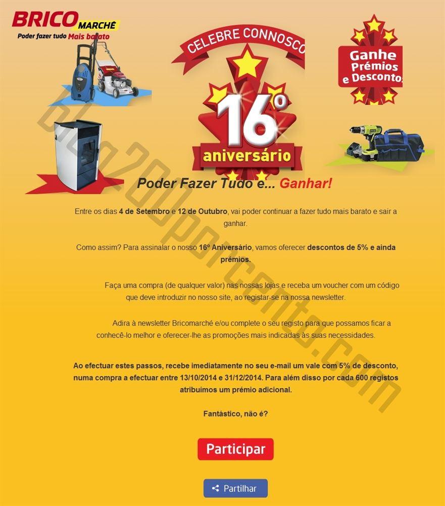 Passatempo BRICOMARCHÉ ganhe descontos e prémios de 4 a 12 setembro