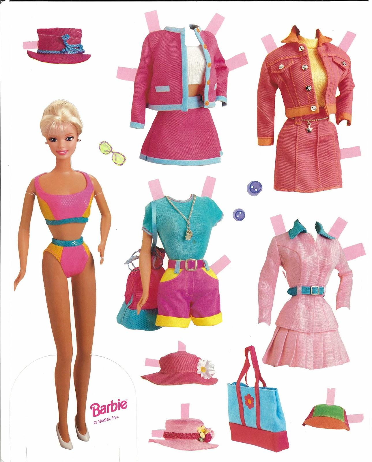 Fan image regarding printable barbie paper dolls