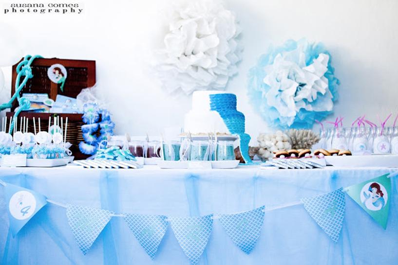 Pequena Sereia - decoração de festas